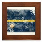 Nauru Flag Framed Tile