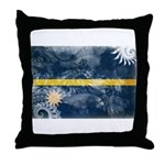 Nauru Flag Throw Pillow