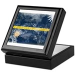 Nauru Flag Keepsake Box