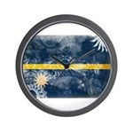 Nauru Flag Wall Clock
