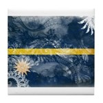 Nauru Flag Tile Coaster