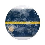 Nauru Flag Ornament (Round)