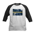 Nauru Flag Kids Baseball Jersey