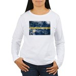 Nauru Flag Women's Long Sleeve T-Shirt