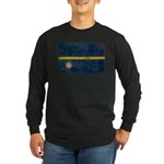 Nauru Flag Long Sleeve Dark T-Shirt