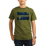 Nauru Flag Organic Men's T-Shirt (dark)