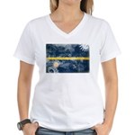 Nauru Flag Women's V-Neck T-Shirt