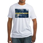 Nauru Flag Fitted T-Shirt