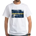Nauru Flag White T-Shirt
