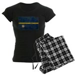 Nauru Flag Women's Dark Pajamas