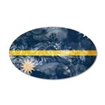 Nauru Flag 38.5 x 24.5 Oval Wall Peel