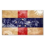 Netherlands Antilles Flag Sticker (Rectangle 10 pk