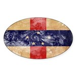 Netherlands Antilles Flag Sticker (Oval 10 pk)