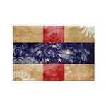 Netherlands Antilles Flag Rectangle Magnet (100 pa