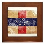Netherlands Antilles Flag Framed Tile