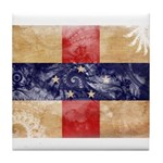 Netherlands Antilles Flag Tile Coaster