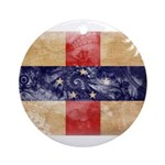 Netherlands Antilles Flag Ornament (Round)