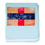Netherlands Antilles Flag baby blanket