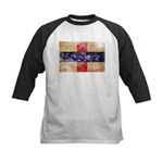 Netherlands Antilles Flag Kids Baseball Jersey