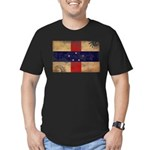 Netherlands Antilles Flag Men's Fitted T-Shirt (da
