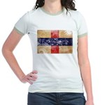 Netherlands Antilles Flag Jr. Ringer T-Shirt