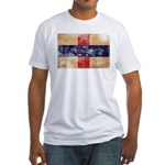 Netherlands Antilles Flag Fitted T-Shirt