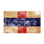 Netherlands Antilles Flag 38.5 x 24.5 Wall Peel