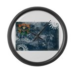 Nevada Flag Large Wall Clock