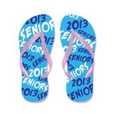 Blue Senior Class OF 2013 Flip Flops