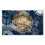 New Hampshire Flag Sticker (Rectangle 10 pk)