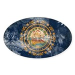 New Hampshire Flag Sticker (Oval 50 pk)