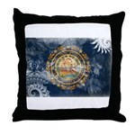 New Hampshire Flag Throw Pillow