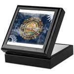 New Hampshire Flag Keepsake Box