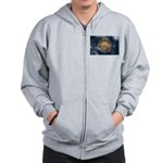 New Hampshire Flag Zip Hoodie