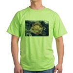 New Hampshire Flag Green T-Shirt