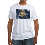 New Hampshire Flag Fitted T-Shirt