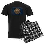 New Hampshire Flag Men's Dark Pajamas