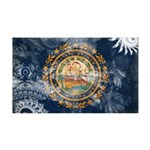 New Hampshire Flag 38.5 x 24.5 Wall Peel