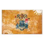 New Jersey Flag Sticker (Rectangle 10 pk)