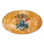 New Jersey Flag Sticker (Oval 10 pk)