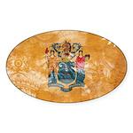 New Jersey Flag Sticker (Oval)