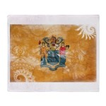 New Jersey Flag Throw Blanket