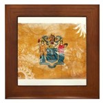 New Jersey Flag Framed Tile