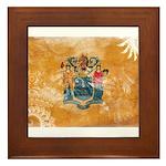 New Jersey Flag Framed Tile