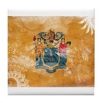 New Jersey Flag Tile Coaster