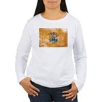 New Jersey Flag Women's Long Sleeve T-Shirt