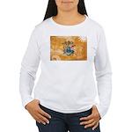 New Jersey Flag Women's Long Sleeve T-Shirt
