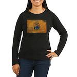 New Jersey Flag Women's Long Sleeve Dark T-Shirt