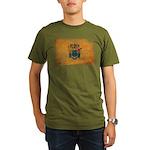 New Jersey Flag Organic Men's T-Shirt (dark)