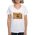 New Jersey Flag Women's V-Neck T-Shirt